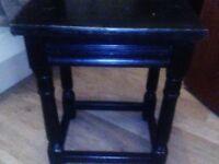 Black wood nest of tables