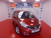 Nissan Note DCI TEKNA (£0.00 ROAD TAX) FREE MOT'S AS LONG AS YOU OWN THE CAR!! (red) 2014