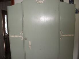 Vintage wardrobe and dressing table.