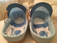 Two Moses baskets for sale