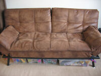 Texas Faux Leather Sofa Bed Sofabed