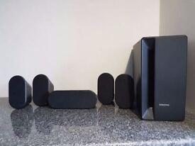 Samsung surround sound speakers, full set of 5+ subwoofer