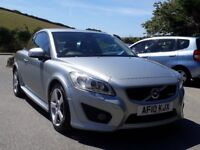 VOLVO C30 2.0 D R-DESIGN POWERSHIFT AUTO, 2010, 86K, FSH, DIESEL, LEATHER, SAT NAV, CLIMATE, SUPERB