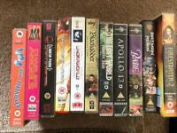 Bundle of 11 mixed family vhs video tapes