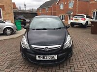 62 PLATE VAUXHALL CORSA 1.4, LOW MILEAGE, LEATHER, BLUETOOTH, MOT 12 MONTHS, ONE PREVIOUS OWNER