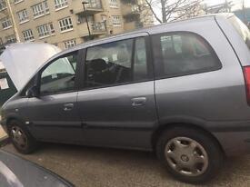 2005 Vauxhall Zafira Design + MOT + Starts and Drives
