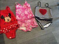 Girls Beautiful Minnie Mouse/M&S/Mayalan Swimwear X 3, Age 6-7, Great Condition