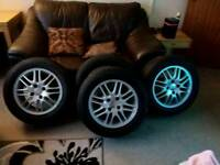 Ford 15' Alloys Good Condition With Newly New Wheels
