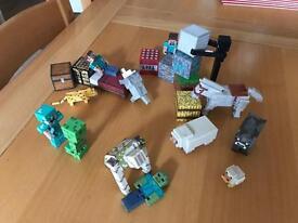 Mine craft play figures,