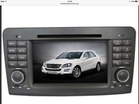 Touch screen Mercedes Benz ML & G Class Sat Nav, Radio, DVD CD player, iPod Bluetooth.