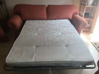 Multi York three seater sofa bed