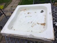 Ceramic shower tray