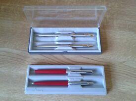 Vintage Parker Pen Sets.