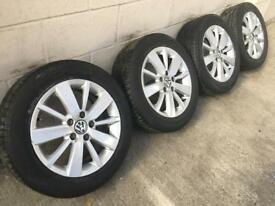 "GENUINE VW 16"" GOLF CROFT ALLOYS w/TYRES - 205/55/16 - CADDY TOURAN"