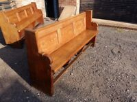 Church pew in stunning heavy pitch pine. A really solid well made church pew 3 available stunning