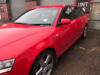 RED AUDI A6 ESTATE SLINE 2006 LONG MOT, REDUCED FROM 2500 to 2000 as I need the money now