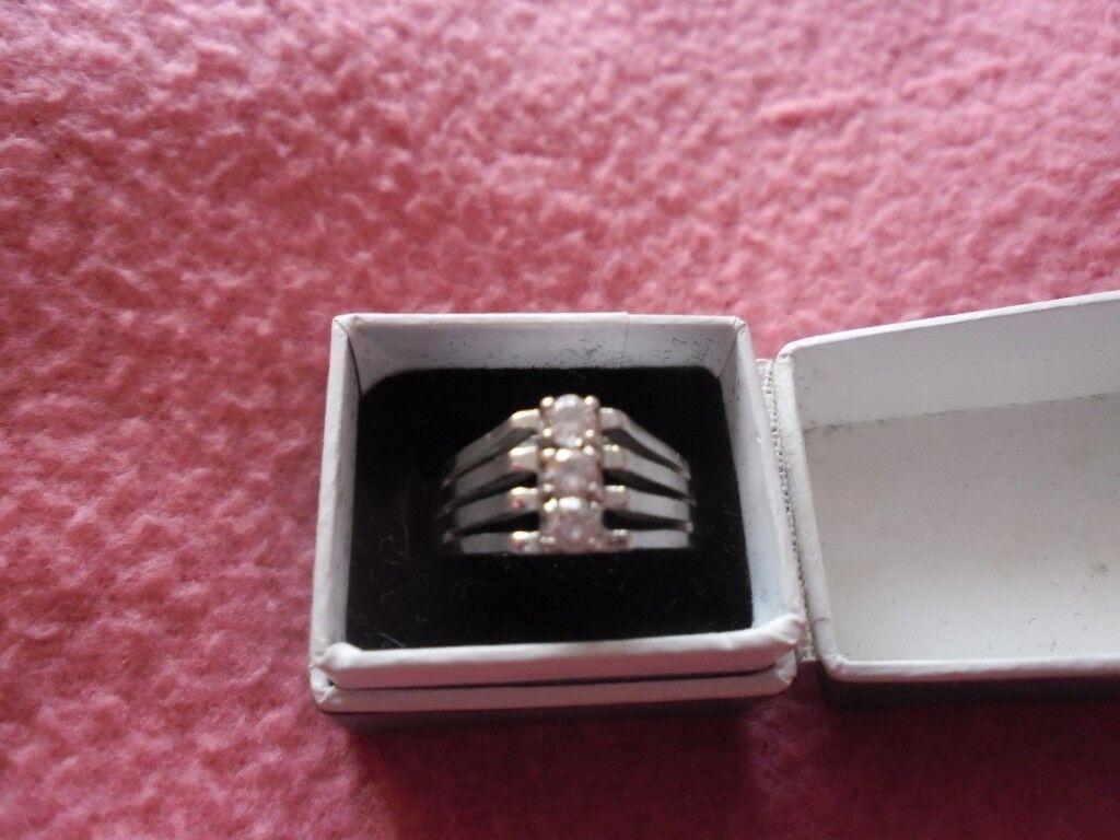 Ladies Dress Silver Ring | in Neston, Cheshire | Gumtree