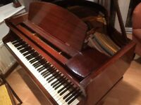Challen baby grand piano for sale in good condition to a good home
