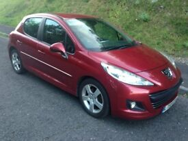 2010 Peugeot 207 Sport 1.6 HDi (110) 5 Door in Metallic Red, 152000 mls in Excellent Condition