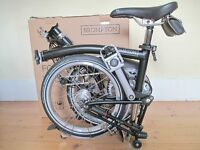 New & Unused B-Spoke H6L Brompton Folding Bike With Accessories