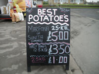 BEST QUALITY POTATOES IN MANSFIELD, NG196TE, SAT & SUN 10-2PM.