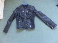 Biker style jacket in initation leather