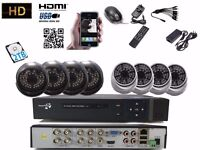 8CH Full 1080P HD DVR CCTV Security Camera System Home Video Outdoor 2TB