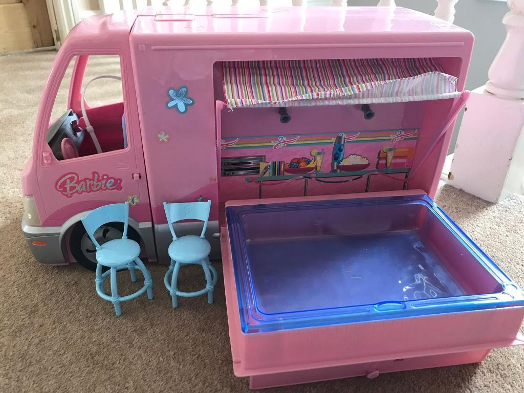 Barbie camper van with pool in bournemouth dorset gumtree for Barbie camper van with swimming pool