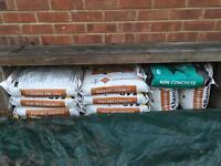 10 Bags Postmix concrete and 1 bag 40N Concrete