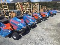 Husqvarna TS138 Ride on Lawnmower mower with 2 bin collector