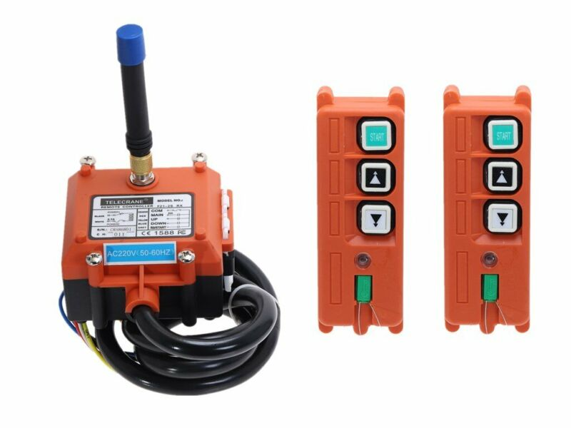 Industrial Wireless Crane Remote Control Switch 2 Receive + 1 Transmitter 12V24V