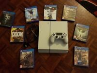PS4 500GB WHITE WITH GAMES