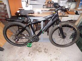 Black Specialized Hardrock Pro 17 Inch Mountain Bike 26 Inch Wheels