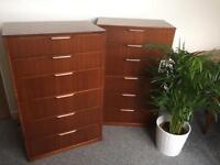 Retro tollboy chest of drawers