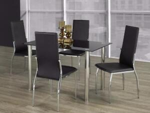 MODERN GLASS DINING ROOM FURNITURE SALE (ID-224)