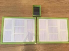 Green picture frames x 3