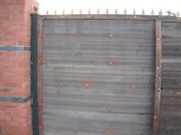 Security Steel Gates Large Timber Clad with posts