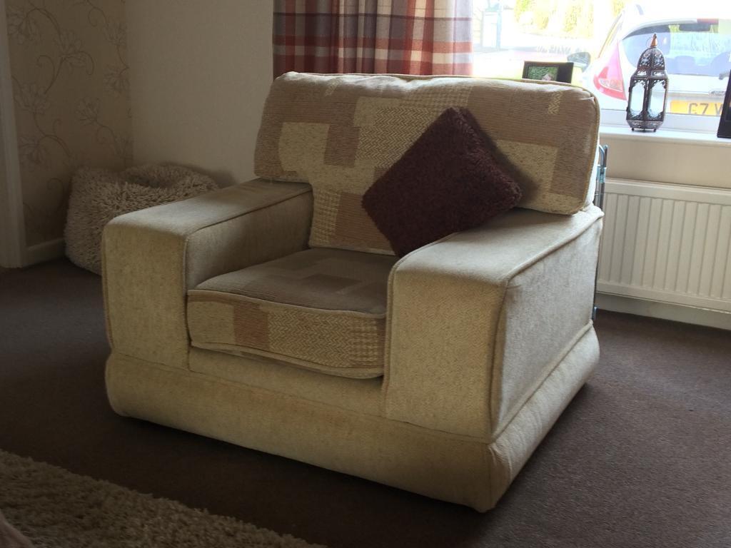 3 piece suite: sofa & 2 armchairs. Brand: SCS | in Dereham ...