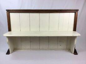 Antique Oak Church Pew - Shabby Chic Hall Bench