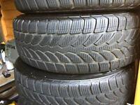BMW 1 series winter / snow wheels with run flat Bridgestone tyres 195/55R16