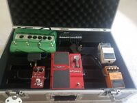 Guitar Pedals and Pedal board for sale