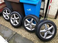 205/55R16 4 alloy wheels with very good tyres, Ballanced, ready to go, Vw, Audi, skoda