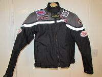 USED CHILDS TEXTILE MOTORCYCLE JACKET SIZE CHILDS 2XL 38 INCH CHEST