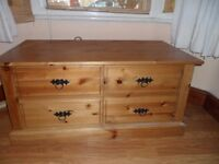 Solid Pine tea chest drawers.