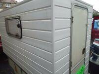 Mini caravan, like tear drop on Leyland trailer.