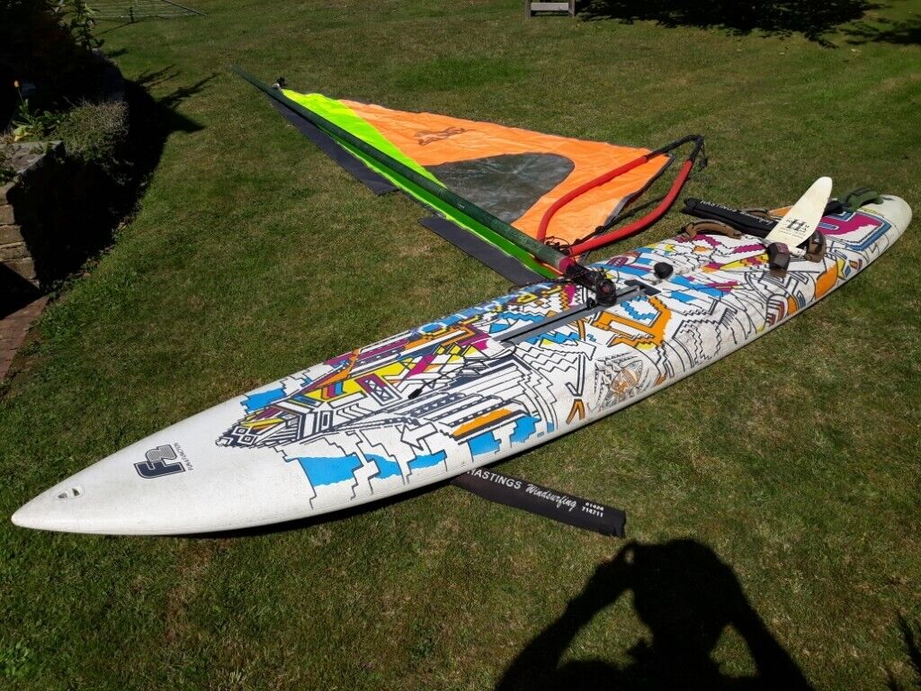 For Sale - Windsurfer board, mast, sail, boom and fin   in Warsash,  Hampshire   Gumtree