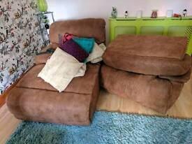 3 and a 2 recliner fsbric suite.