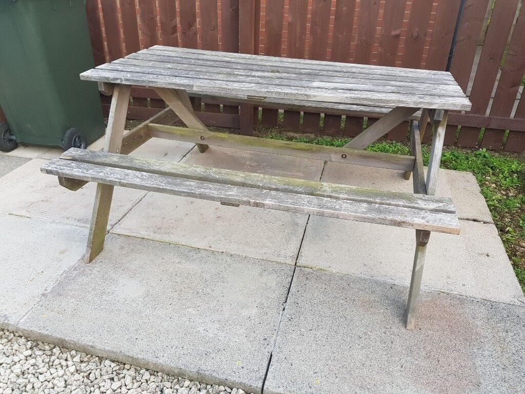 Free Fire Wood Old Picnic Table In Wallsend Tyne And Wear Gumtree - Fire picnic table