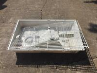 Rabbit or guinea pig cage with shelter