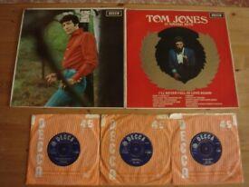 5 ORIGINAL TOM JONES RECORDS AS PER PHOTO'S £5 THE LOT